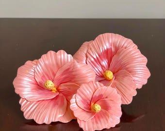 Fondant Hibiscus Flower Cake Topper (SET OF 3)