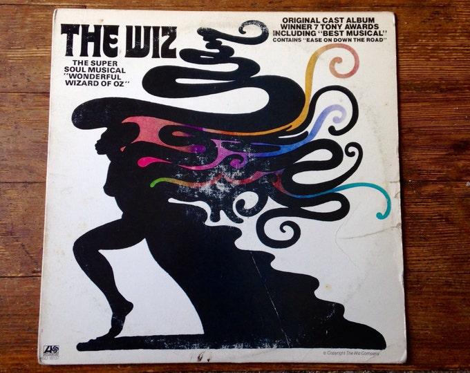 1975 The Wiz, Original Cast 33 1/3 rpm Record Album. SD 18137. VG Sleeve, VG++ Record. Atlantic Records