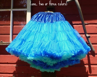 Miss Allie Petticoat ~ Level 1 - 2 - 3 or 4 ~ Extra-Full soft nylon pettiskirt ~ chiffon ruffle edge tutu