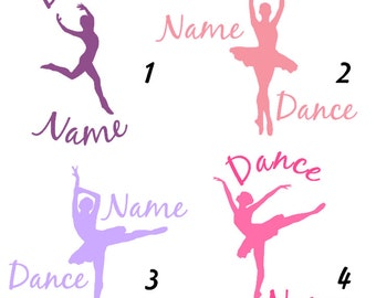 Dance Decal - Adhesive or Iron On - With Name
