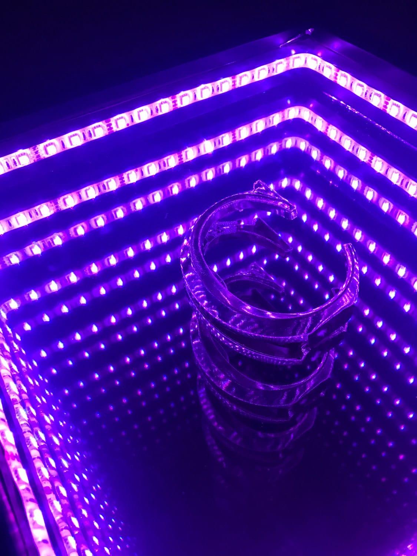 Miroir infini avec centre de table personnalis multicolore for Miroir infini