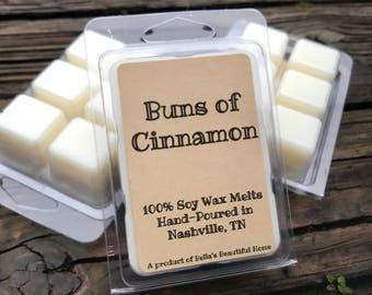 Cinnamon Buns Soy Wax Tarts // Buns of Cinnamon // 100% Soy Wax // Wax Melt // Cinnamon Bun Lover // Gift Idea // Gift for Her // Home Decor