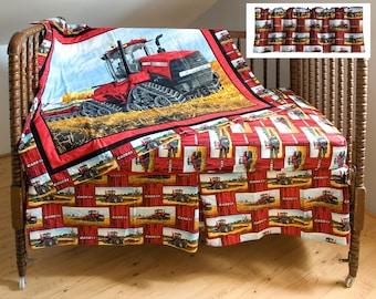 Case IH 500T Tractor Crib Bedding Set, four-piece
