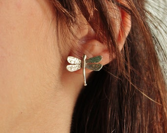 DRAGONFLY - sterling silver earrings - calcagnini jewelry