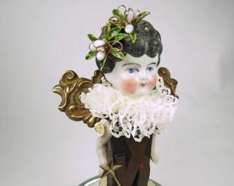 Assemblage de Angel Doll « Thé » Assemblage Art Doll, poupée fée