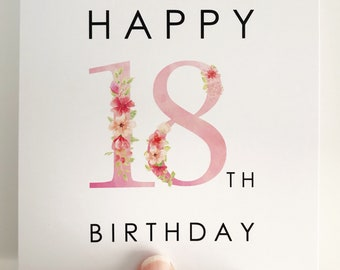 18th Birthday Card {FLOWERS}