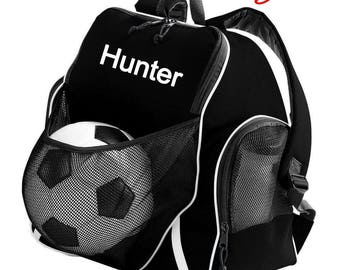 FREE SHIPPING - Personalized Monogrammed Soccer Volleyball Basketball Sports Backpack Book Bag school tote  - NEW
