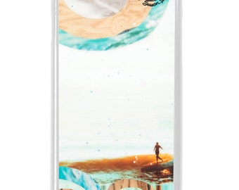 NEW iPhone 7/7+ Case, CURVE BB, New, Belinda Baggs, Beach, Surf, Surf Art, Wood, Water, Longboard, Avail. with Black or White case color