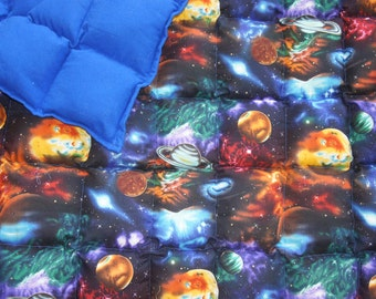 Weighted blanket for Toddler Bed/small (38-40x55) Available in Multiple Fabrics