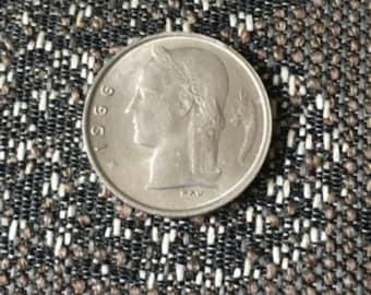 1966 Belgium 1 Franc