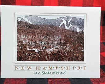 New Hampshire Greeting Card, Loon Mountain, Ski Greeting Card