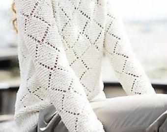 womens lace sweater knitting pattern 99p