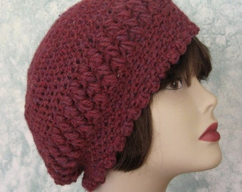 Womens Slouch Hat Crochet Pattern Bohemian Style PDF Easy To Make Resell finished