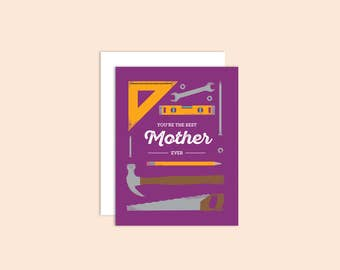 Mother's Day Card, Cards for Mom, Cards for Her, Thanks Mom, Thank You Card