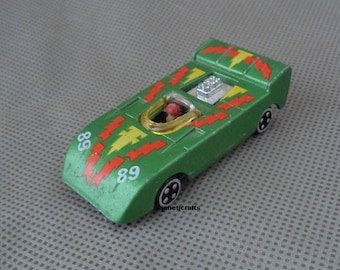 Vintage toy race car , SM brand , Toy car ,Toy race car with driver , Die cast toy car , 1980's toy car