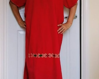 Traditional Mexican dress handmade embroidered.