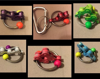 CRAzy CHaiN Bike Chain Keyring Therapy Autism Fidget Toy ADHD Sensory 7 COLORS to choose from!!