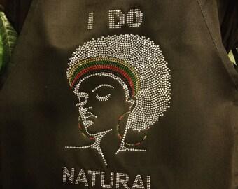 I Do Natural Hair- Headband Apron
