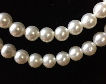 Vintage  2-Strand Faux Pearl Necklace