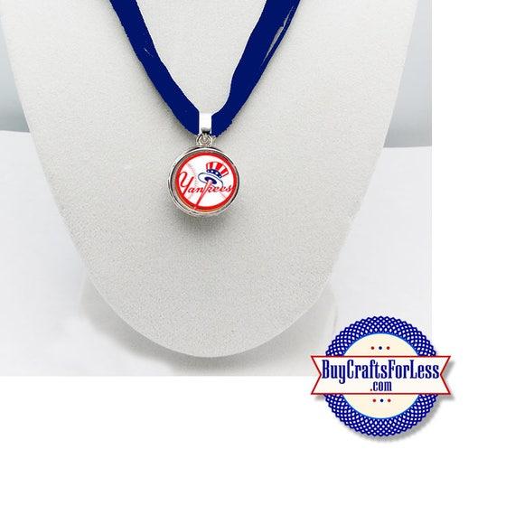 NEW YORK Baseball PENDaNT, CHooSE Design and Ribbon Cord - Super CuTE!  +FREE SHiPPiNG & Discounts*