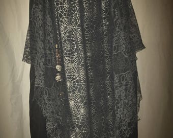 Plus Size Spider Web Witch Skirt