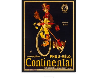 Beautiful era - Vintage Fine Art - Continental Bicycle poster print - Vintage Advertising - P042