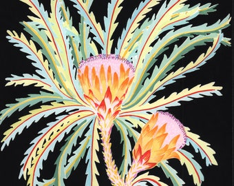 original gouache painting - banskia flowers