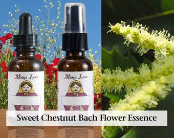 Sweet Chestnut Bach Flower Essence, 1 oz Dropper or Spray for Strength, Faith and Courage when In Despair and All Seems Lost