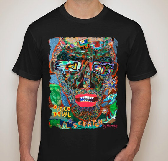 VISUAL Tee Scratched Black