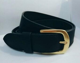 Leather belt (handmade)