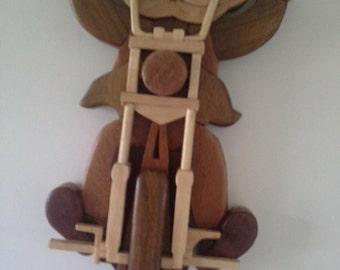 Australian Wooden Intarsia Bikie