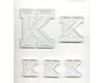 """Collegiate Letter """"K"""" Chocolate Candy Mold"""