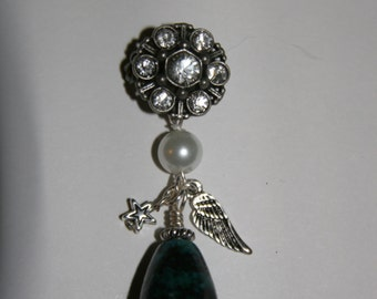 Coat or jacket Pin with wings and star