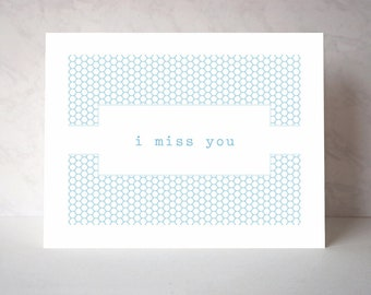 I Miss You Vintage-Inspired Greeting Card - Sphere Series