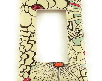 Rocker Switch Plate Light Switch Cover  Switchplate in  Sketch Flower  (142R)