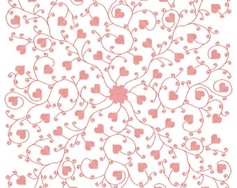 Swirly Valentine - embroidery pattern