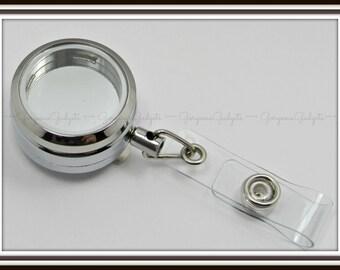 30mm Floating Locket / Glass Locket / Memory Locket Badge Reel Pendant Locket Stainless Steel