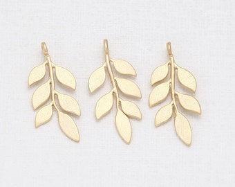 Branch Pendant Matte Gold-Plated - 2 Pieces [P0235-MG]