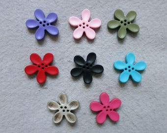 20 mm orchid flower button