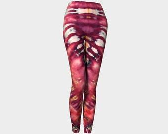 Tie Dye Leggings-Women's Leggings-Capri Leggings-Pink Purple Gold Leggings-xs, s, m, l, xl