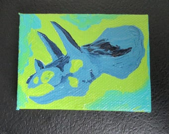 Miniature Triceratops Painting