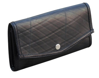 eco friendly wallet, small snap wallet using inner tube - FREE SHIPPING - Envelop wallet - Upcycled purse - naveh milo
