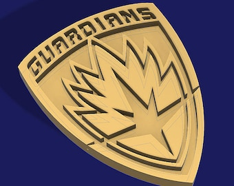 Guardians of the Galaxy - Prop Badge for Cosplay - STL File for 3D Printing