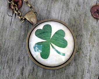 St. Patrick's day necklace, Irish jewelry, Shamrock jewelry, Shamrock keychain, Irish gifts for women, Irish necklace, Shamrock necklace