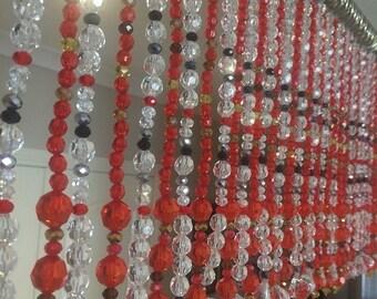 ON SALE Beaded curtain Bead curtain Hanging beads Valance Toran Crystal Curtain Decor Divider Interior Housewarming Gift Art Installation Ar