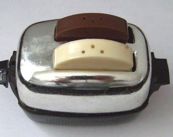 Vintage Toaster with Toast Salt and Pepper Shakers