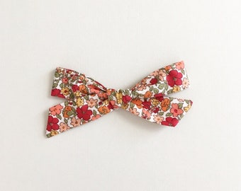 Rosey Floral - Hand Tied Bow