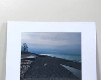 Lake Michigan shoreline 8x10 print