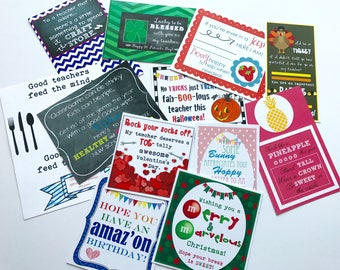 INSTANT DOWNLOAD Teacher Appreciation Printables for Every Occasion of the School Year Tags Gifts Treats To Give Your Teacher Back To School