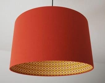 Terracotta lampshade etsy lampshade retro terracotta aloadofball Choice Image
